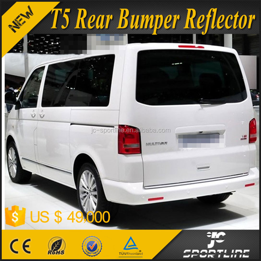 ABS Auto Car Rear Bumper Relector Brake Lamps for Volkswagen VW T5 Transporter Caravelle 14up