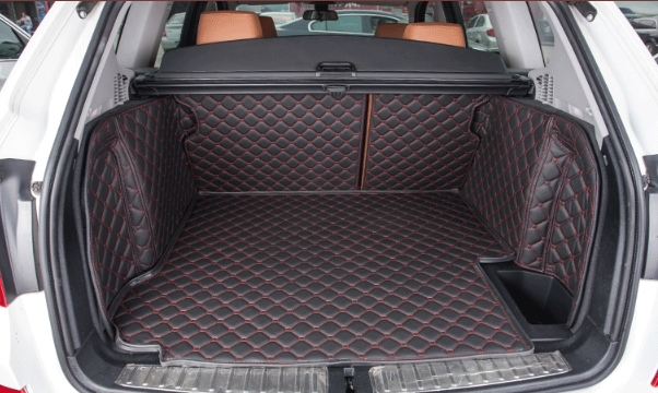 tapis de haute qualit sp cial tapis de coffre pour bmw x3 2014 durable tapis bagages en cuir. Black Bedroom Furniture Sets. Home Design Ideas