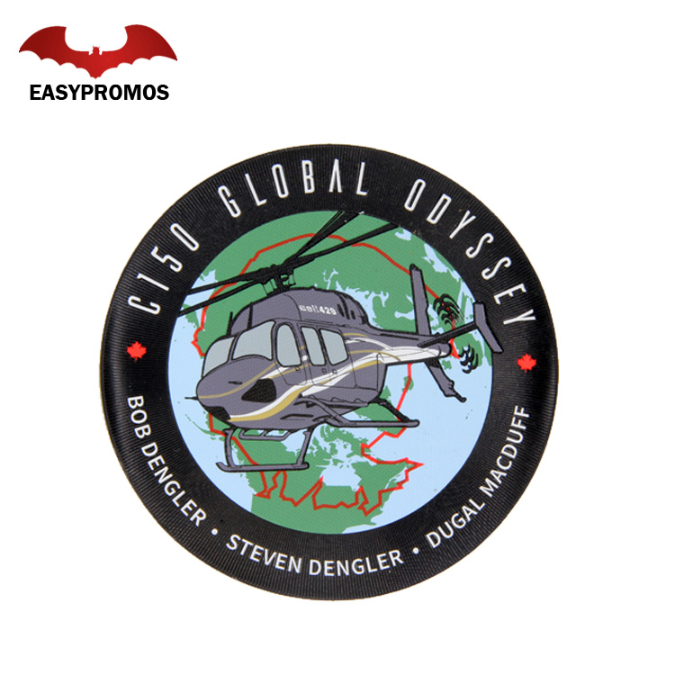 Custom Uniform PVC Dye Sublimation Printing Patch Badge with Adhesive or Hook and Loop back