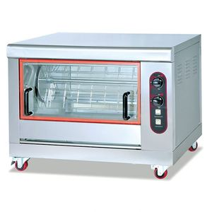 China manufacturer auto rotisserie stainless steel gas chicken rotisserie for sale