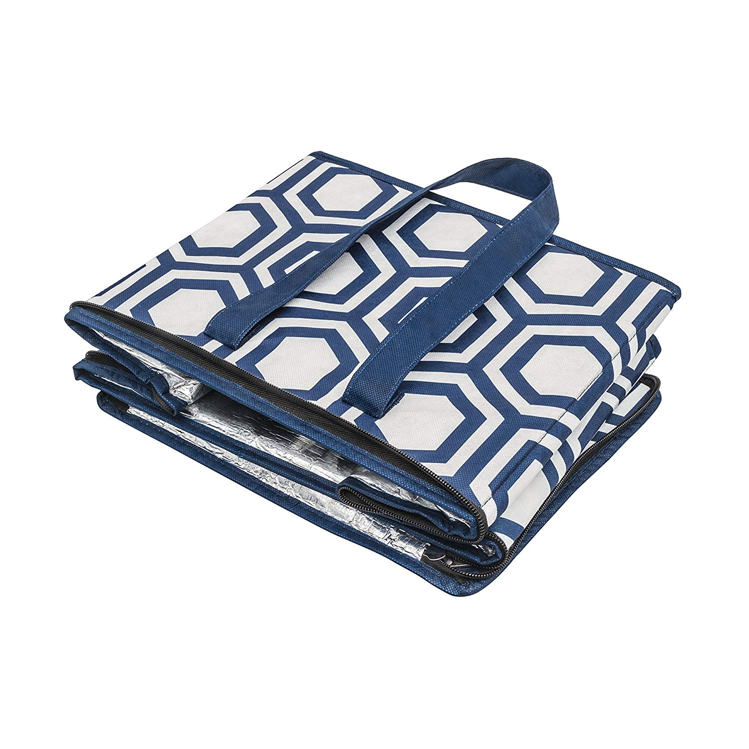 Made of Recycled  Plastic Large Collapsible Insulated zippered Coolers bags with Reinforced Bottom