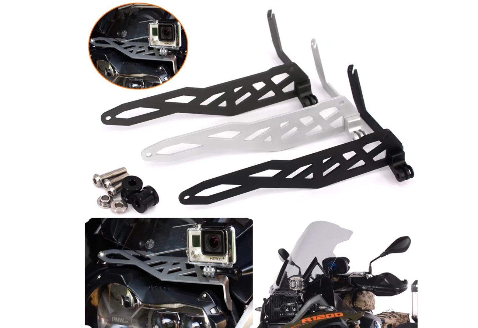 Motorcycle Sports/Camera/VCR Mount Bracket Cam Rack Indicator For BMW R 1200GS LC 2013-2016 BMW R 1200GS LC Adventure 2013-2017