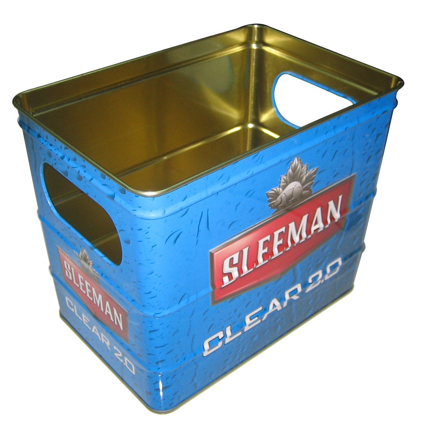 Square metal ice bucket m for beer