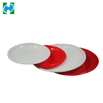 Customized Food Grade Disposable PS Plastic Meat Colorful Round Plastic Trays for Meat