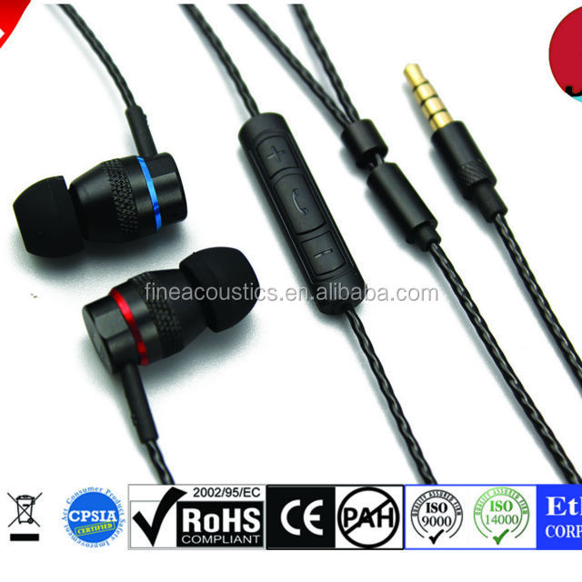 Dual driver super bass metal earphone/headphones