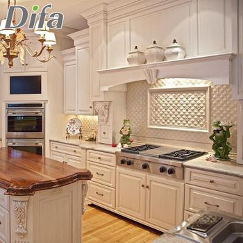 Custom Modern White Modular Kitchen Cabinets,Termite Proof ...