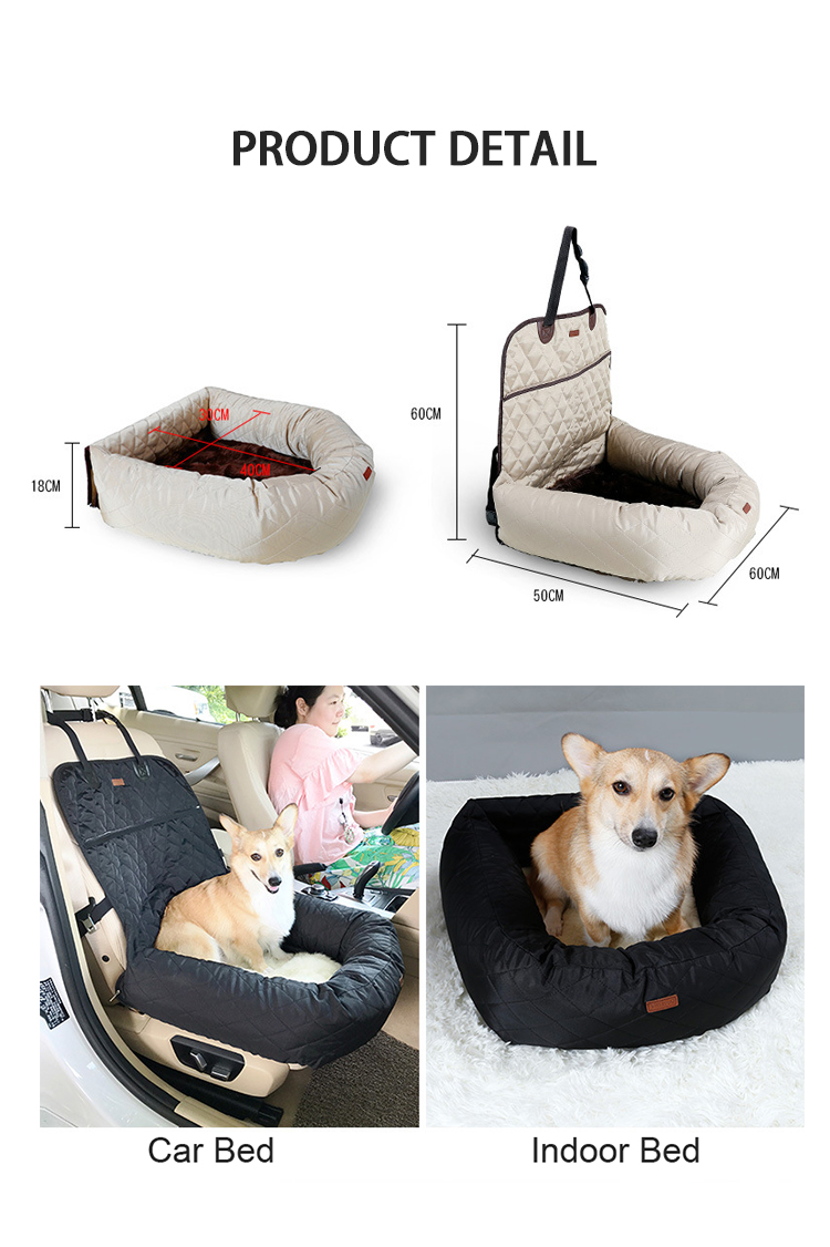 CW-B-006 good quality with safety strap pet dog car seat covers