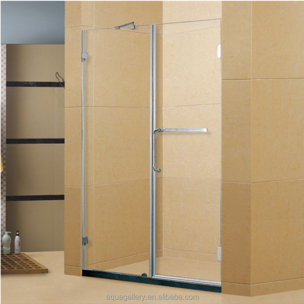 Tempered Glass Frameless Bathroom Shower Screen Door