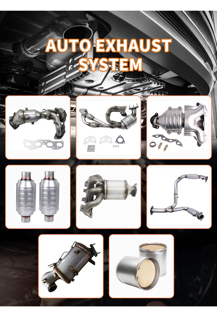 High performance 304 stainless steel sports exhaust universal muffler