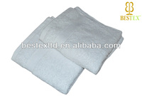 wholesale Hotel Organic Terry cloth 100% cotton white softtextile cut pile face towel