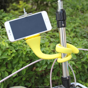 Image of Banana Pod Flexible Clip Mount Car Phone Holder Lazy Pod with Long Arm Lazy Bracket Stand Flexible Desk Table Clip Mini Camera T