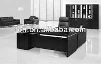 Black melamine office table,modern executive desk office table design,office table laminate melamine office furniture(FOHBA22-D)
