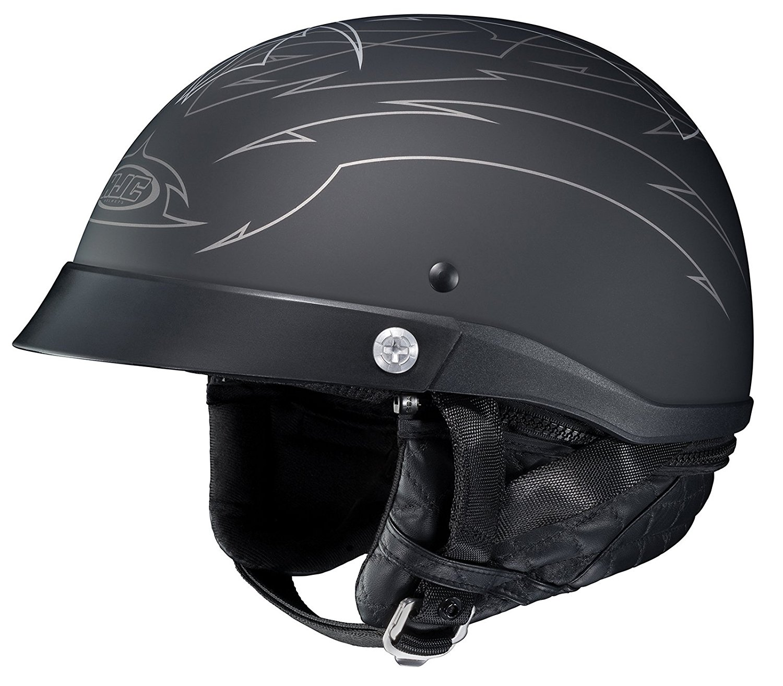 HJC Helmets Unisex-Adult Half-Size-Helmet-Style CL-Iron Road Show Boat MC5F Helmet (Black, XX-Large)