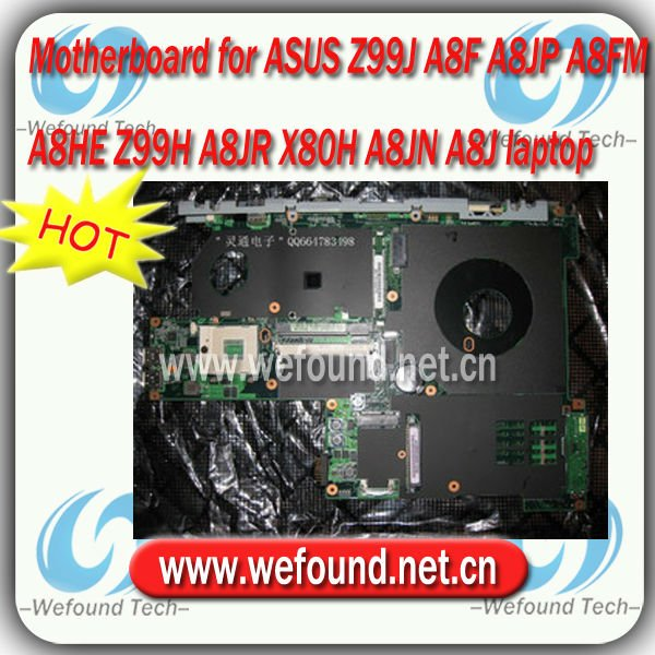 Good quality for ASUS A8M Z99J A8F A8JP A8FM A8HE Z99H A8JR X80H A8JN A8J motherboard for laptop