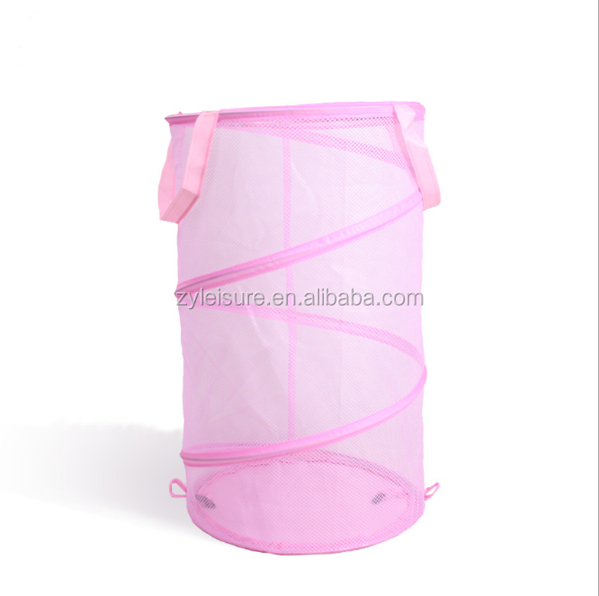 home foldable mesh pop up laundry basket foldable storage bag folding collapsible mesh laundry storage bin laundry bins