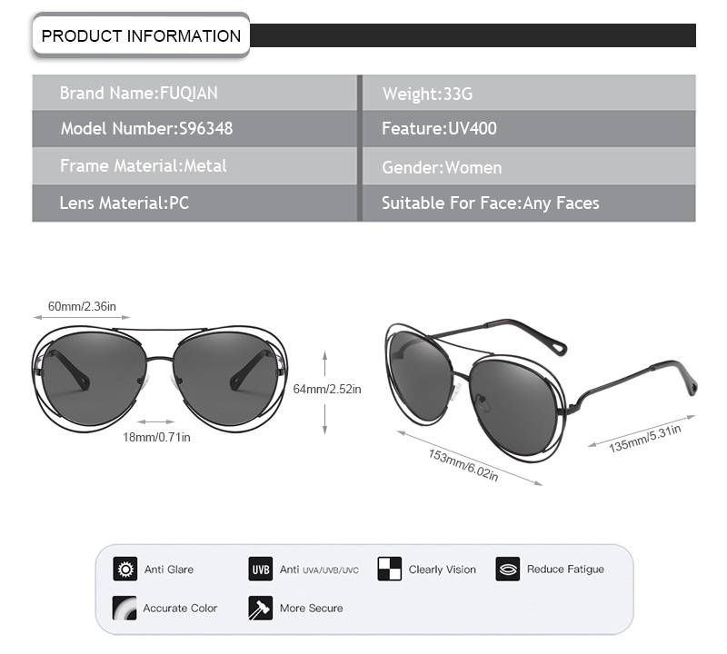 Fuqian designer sunglasses wholesale buy now for women-7