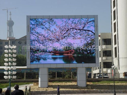 P20 Big pantalla led message digital wall for advertisement with steel cabinet