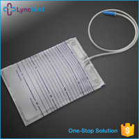 Medical clear luxury plastic disposable synthetic urine bag adult