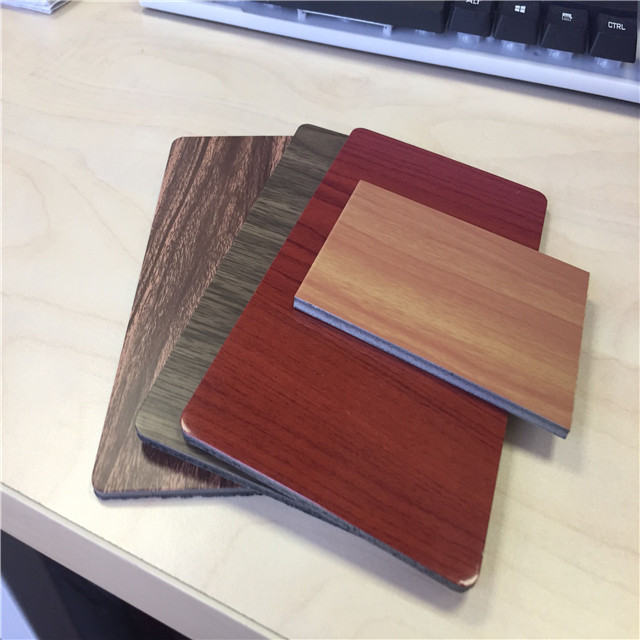 3mm both sides wood grain aluminium composite panel for interior decoration