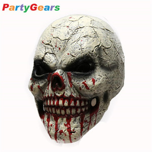 Wholesale Halloween Props Decorations Terrified Realistic Skull Mask