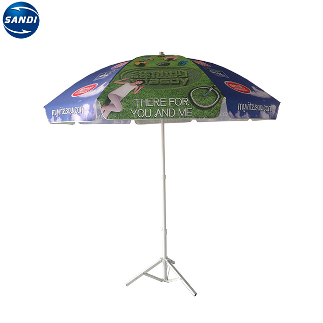 Advertising custom outdoor straw solar beach umbrella with fringe