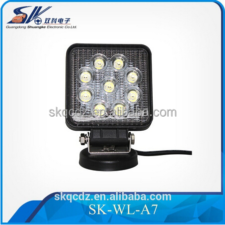 High Quality 110*126*53mm square e pistar led work light, auto car work light led 12V 27w