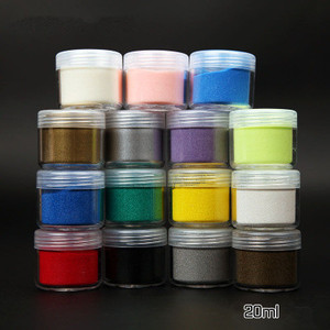 Heat colorful embossing powder for card scrap booking