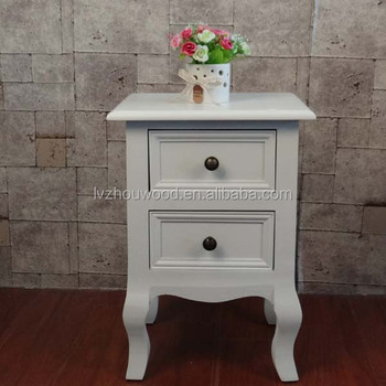 white simple MDF nightstand hot sale bedside furniture