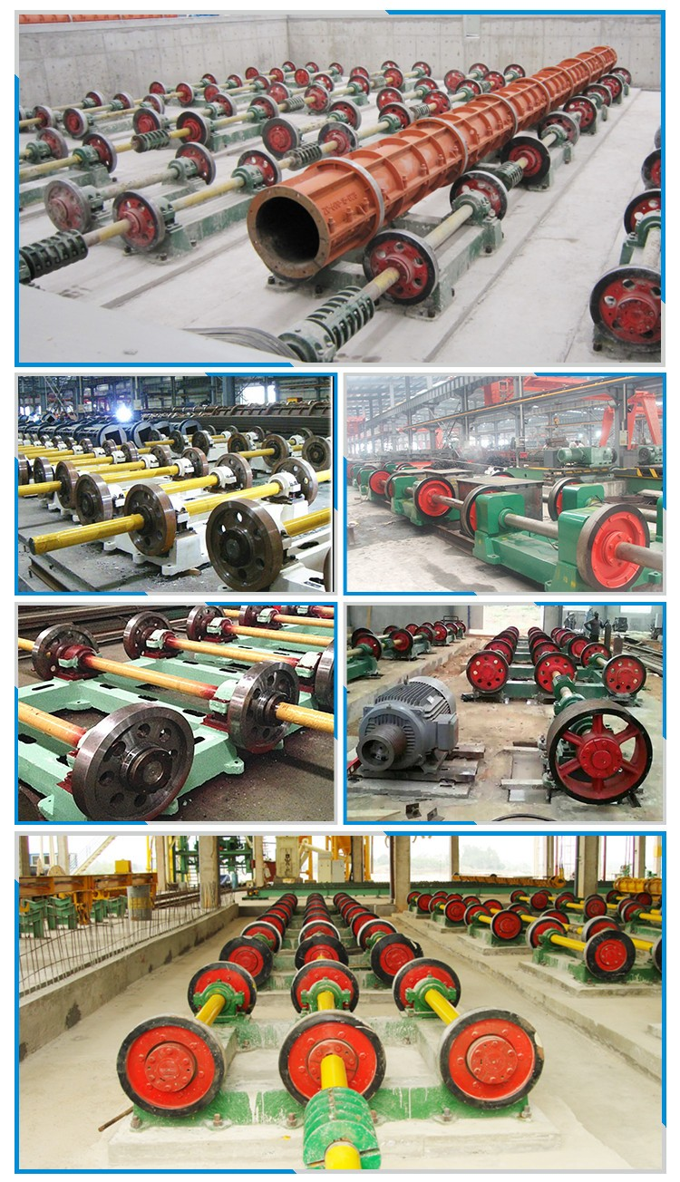 Reinforcement electric concrete poles spinning machine plant