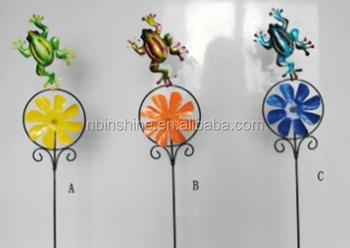 Decorazioni Da Giardino In Metallo : Metallo rana pali decorativi da giardino ornamento da