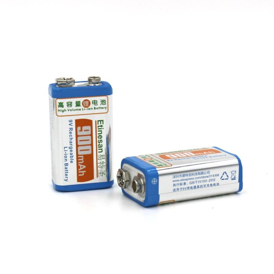 900mah super 4pcs 9v li ion lithium rechargeable 9 volt battery smart charger ebay. Black Bedroom Furniture Sets. Home Design Ideas