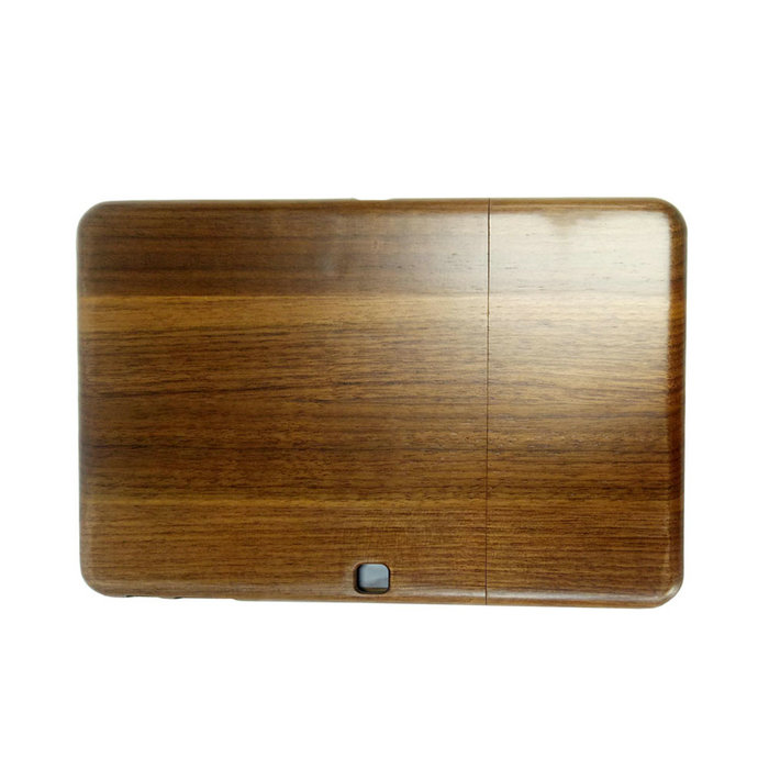 Natural Walnut Wooden Phone Case Mobile Phone Cover for Samsung Tab 4