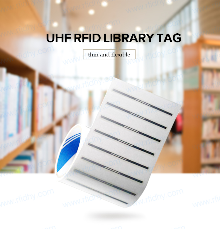 512 Bits Book Tracking Flexible RFID Tags Library Management UHF RFID Tag