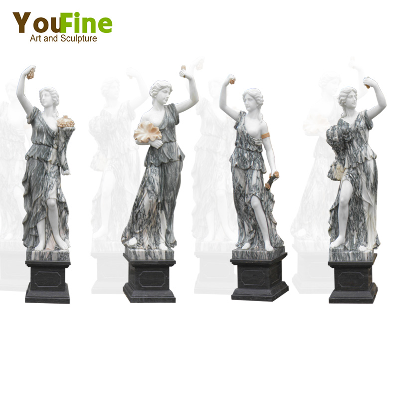 Selling Classic Life-size Marble Four Season Ladies Statue