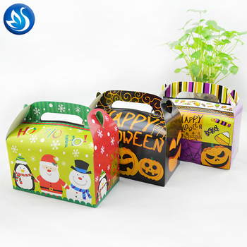 Best price for wedding style candy biscuit customized with handle paper cake box