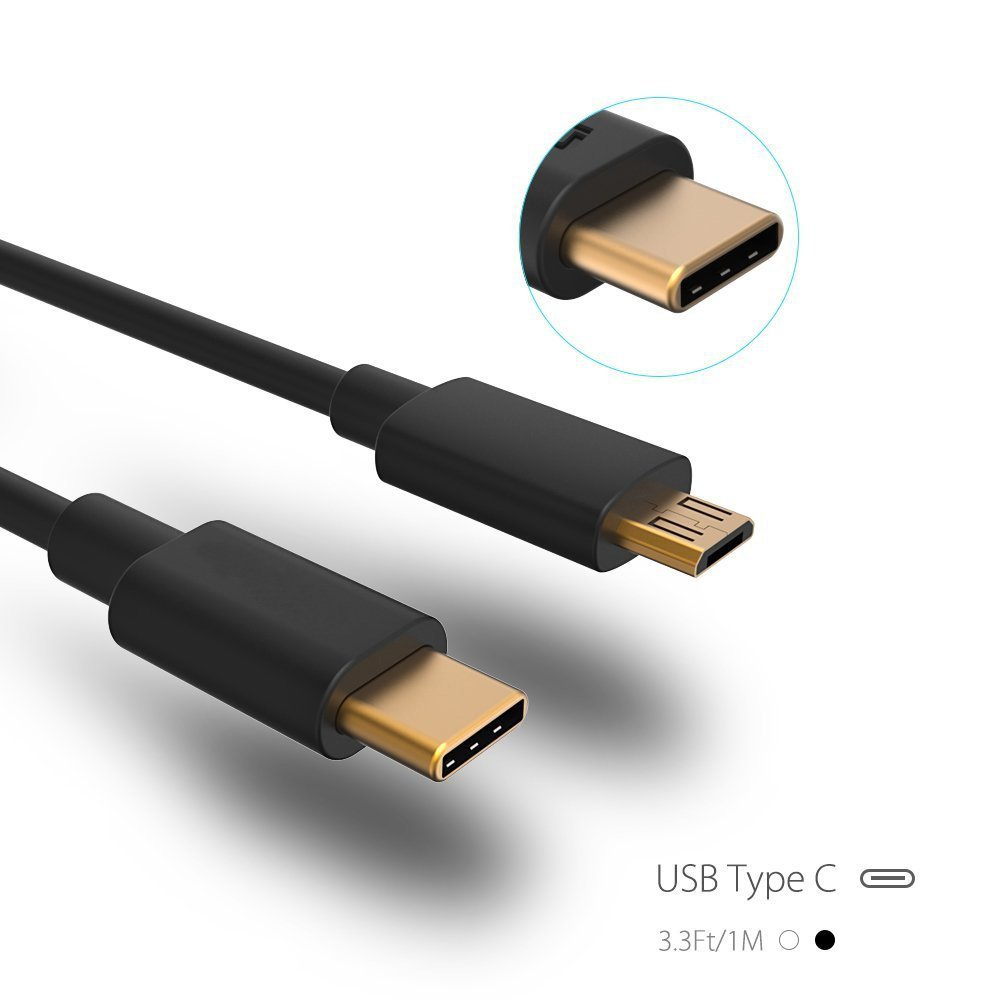 USB Type C Cable, Milocos 3.3ft/1m USB (USB-C to Mirco USB) TPE Cable for Apple Macbook 12 inch, ChromeBook Pixel, Nexus 5X, 6P, LG G5, Nokia N1 Tablet, OnePlus 2, Asus Zen AiO and More, Gold