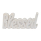 Cheap price pearl glazed blessed sign easter decoration home goods blank ceramic ornaments