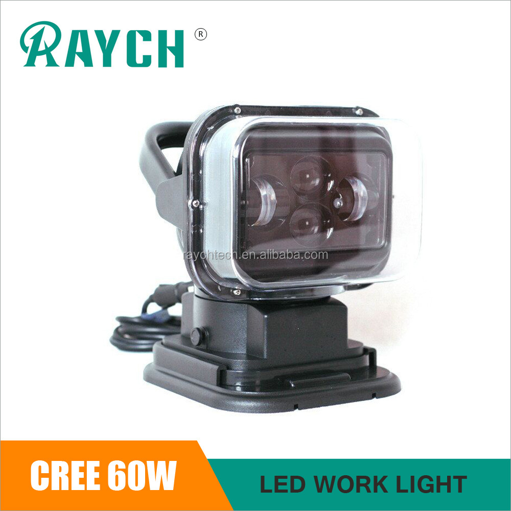 50w magnetic base remote control search light led search light 4D,SPOT Beam 60w led work light
