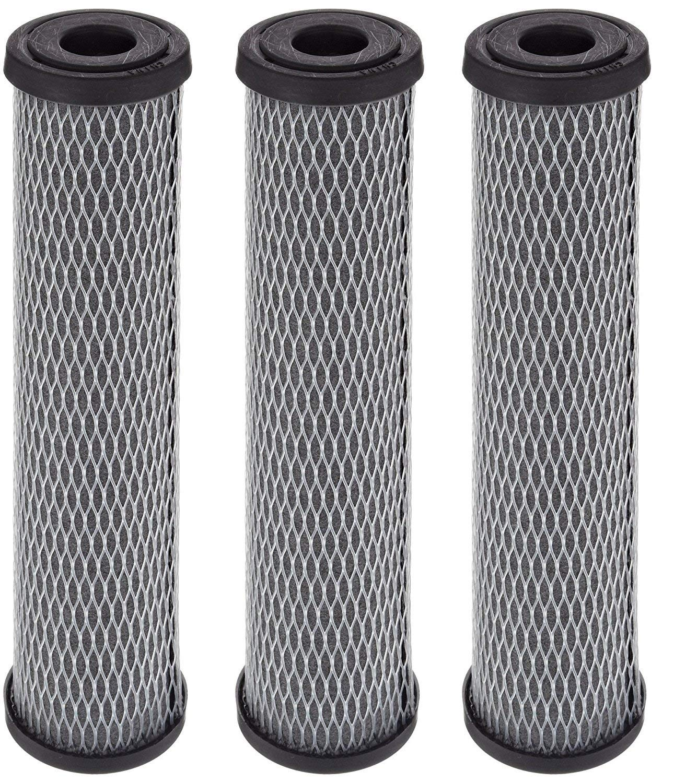 Pentek C1 Carbon Filter Cartridge, 9-3/4 x 2-1/2, 5 Micron (3, 1 Pack)