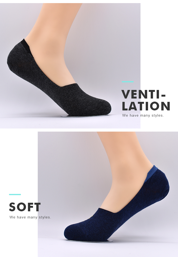 Wholesale Classic Yarn Pure Color No Show Thin Cotton Hidden Low Cut Invisible Summer Socks For Men