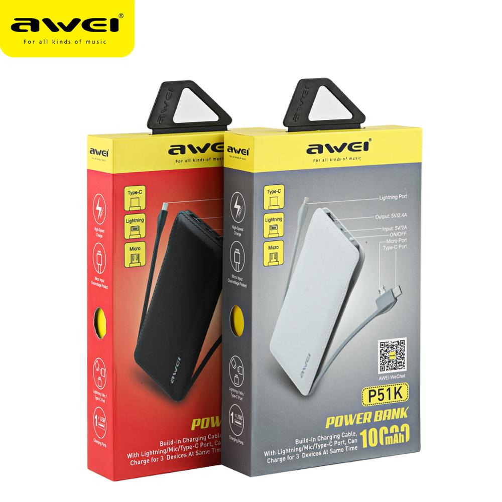 2017 Awei P51k Lithium Ion Polymer Super Thin Qc Portable