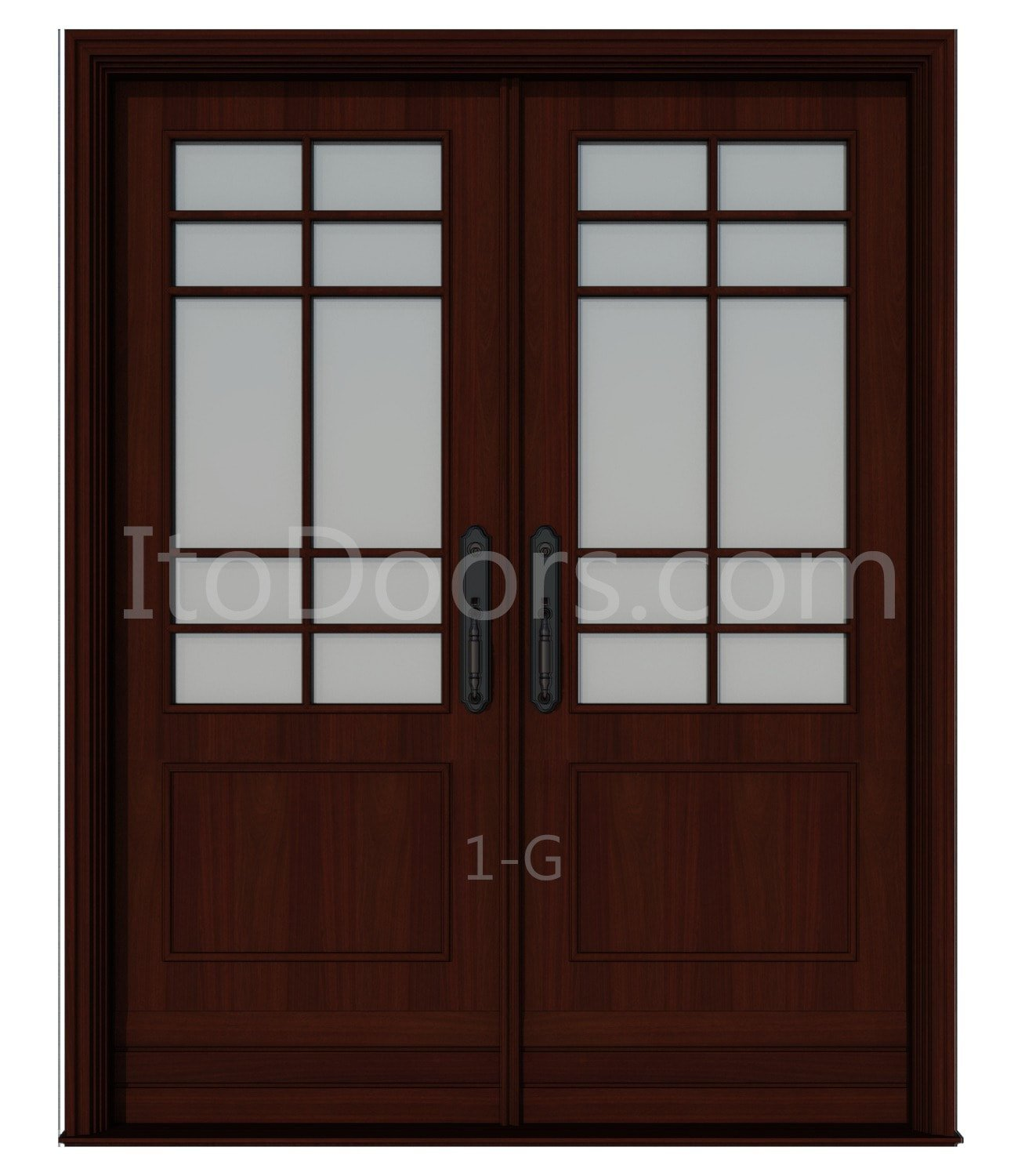 Get quotations · custom made double exterior front entry double wooden glass door ito doors