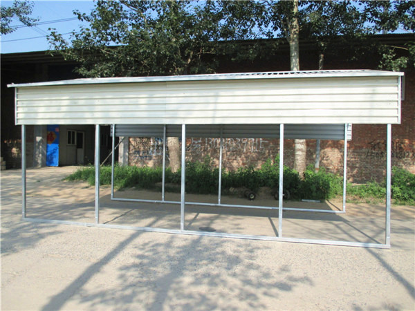 metal structure carport 6x9mmetal shed for car storage
