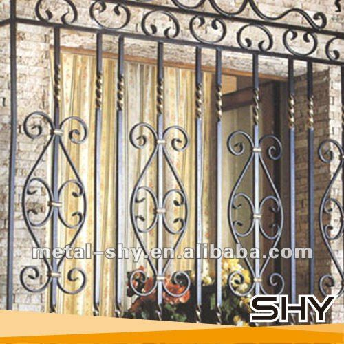 2014 China Barred Windows Grill, Wrought Iron Barred Windows Bars for Home Balcony