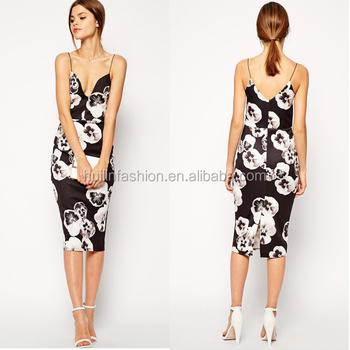 5acddecc5ea Интернет-магазин Индии Спагетти ремень Повседневное платье для женщин  окунуться шеи цветочный принт модное платье