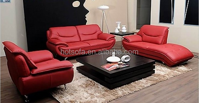 Divano Rosso Pelle : H vendita calda dubai divano rosso divano in pelle set divano