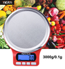 yieryi Electronic Kitchen Scale Weight Balance 3000g/0.1g Stainless Steel Hight Accuracy Libra Jewelry Food Diet Digital Scale