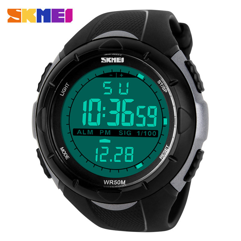 India hot skmei-1025 black digital watch new designer watch