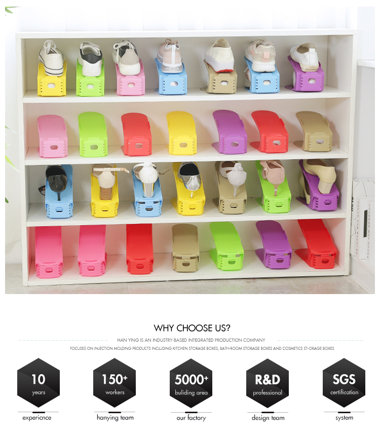 Hot Amazon Sets Storage Double Space Saving Adjustable Plastic Shoe Organizer  Shoe Slot