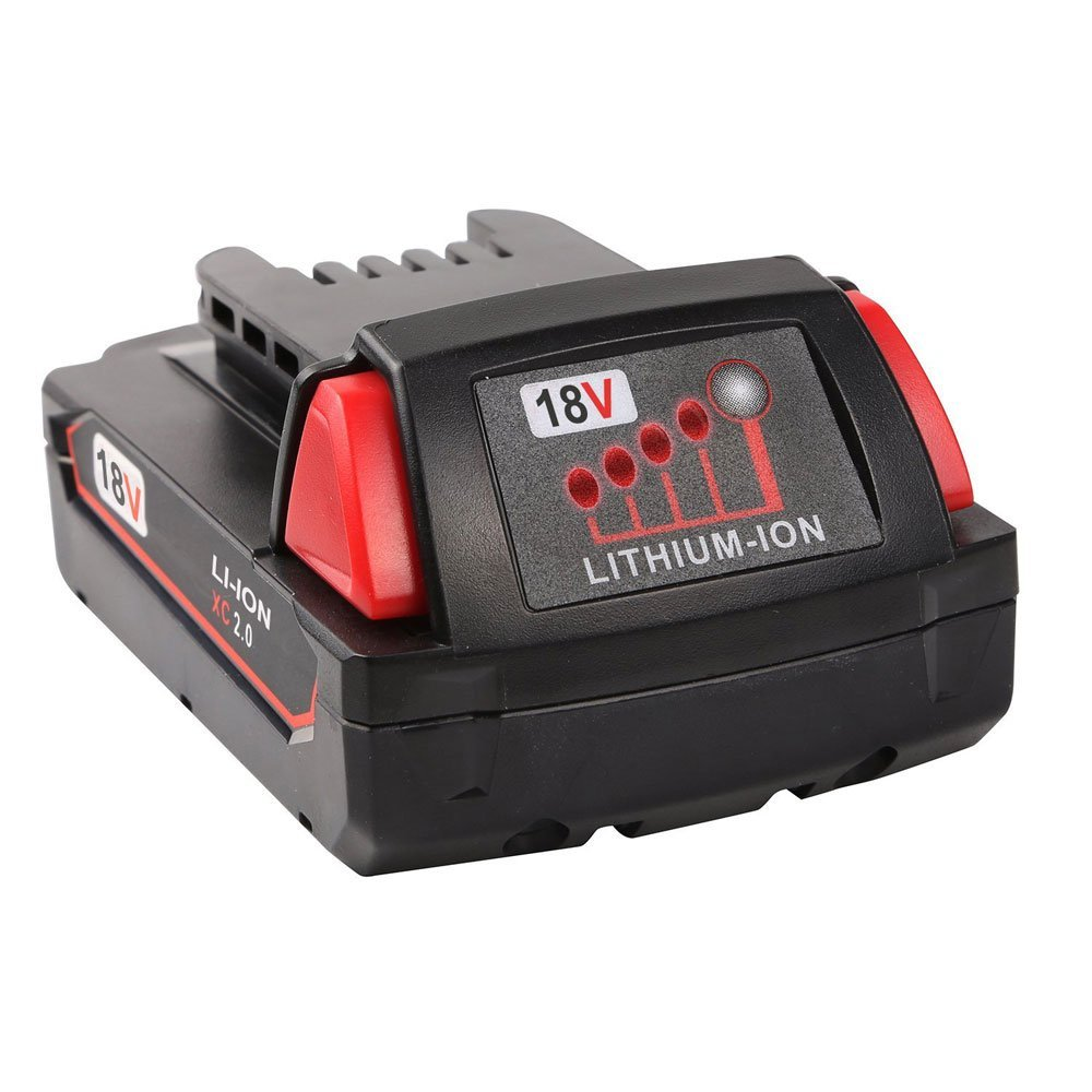 New 18V 2000mAH Battery for Milwaukee M18 48-11-1840 48-11-1815 Red Lithium